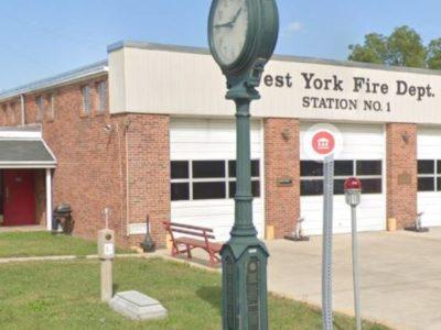 West York Fire Department 1928 concrete marker