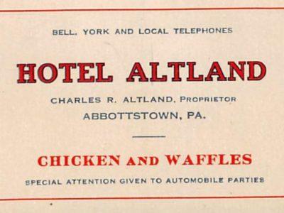 Altland House business card