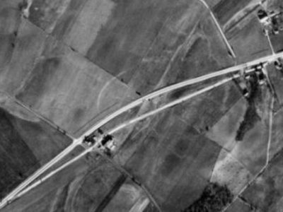 1938 Bentzel property areal view